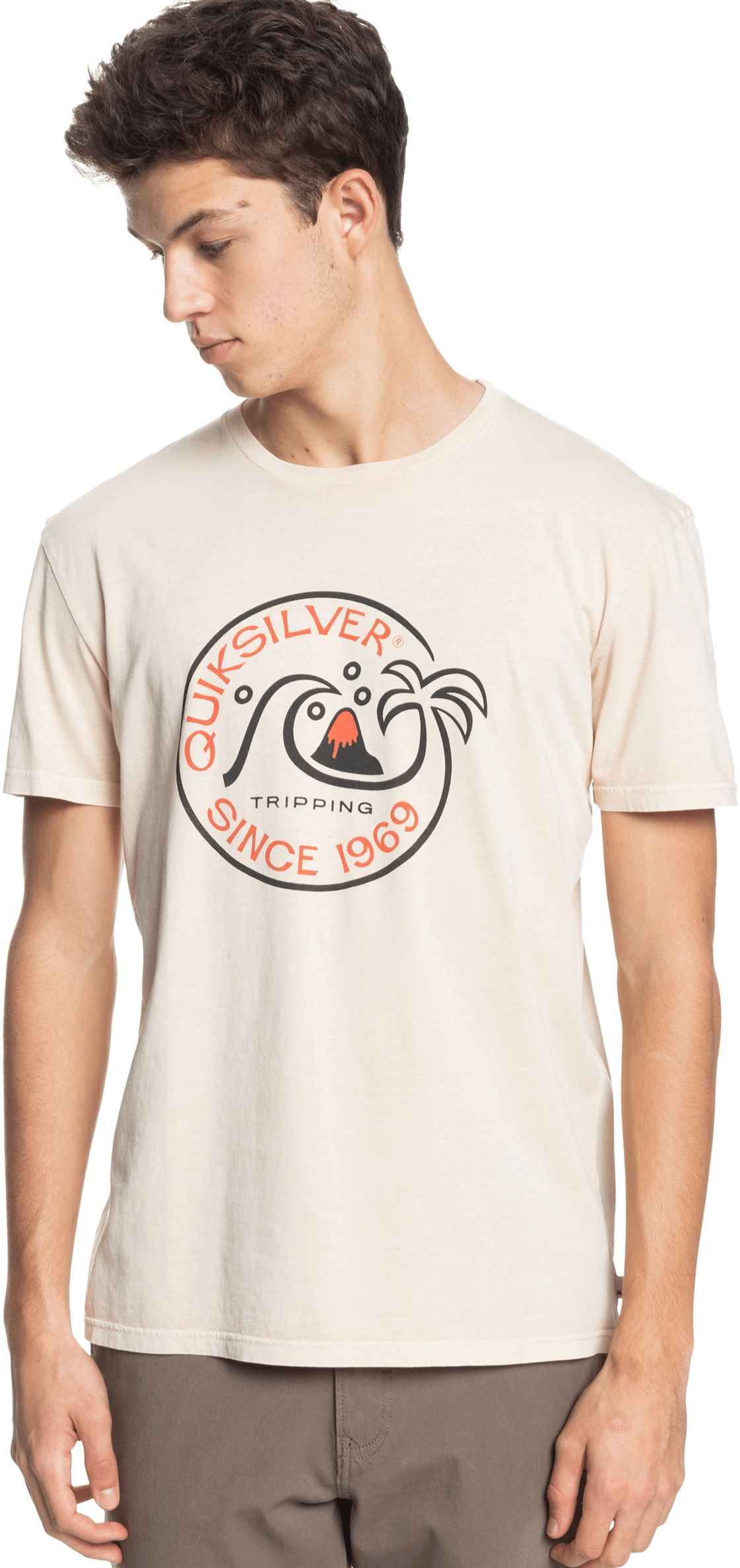 t-shirt męski QUIKSILVER INTO THE WIDE TEE Antique White - WCL0
