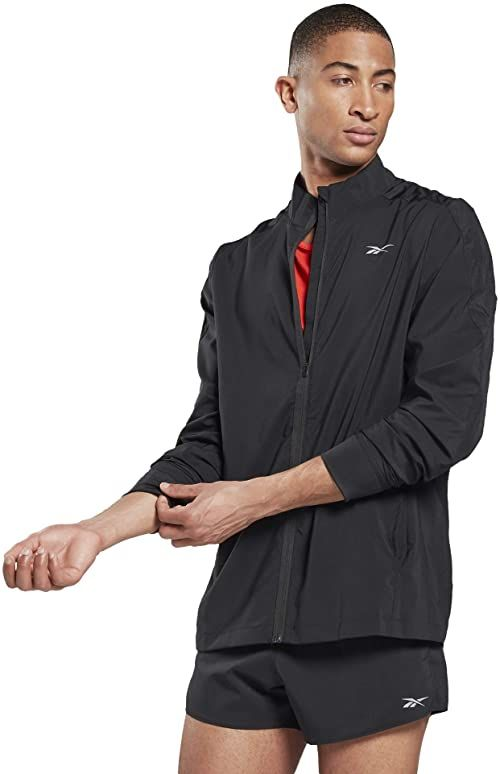 Reebok Męska kurtka Re Woven Wind JKT Light Jacket, czarna, XS