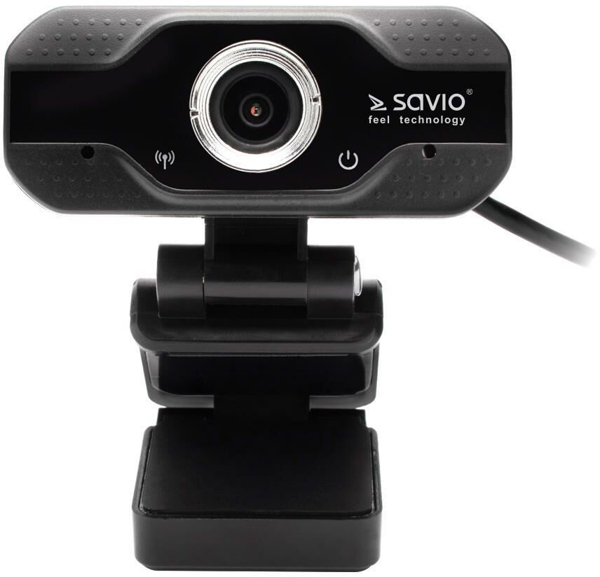SAVIO KAMERA INTERNETOWA WEBCAM USB FULL HD Z WBUDOWANYM MIKROFONEM CAK-01