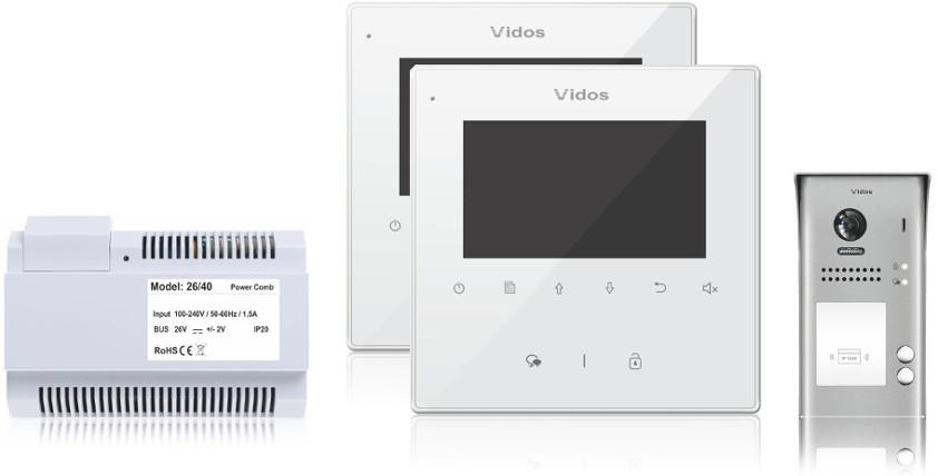 Wideodomofon 2-rodzinny vidos duo 2 x m1022w / s1102a - możliwość montażu - zadzwoń: 34 333 57 04 - 37 sklepów w całej polsce