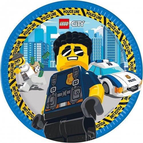 Talerze papierowe Lego City, 8 szt.