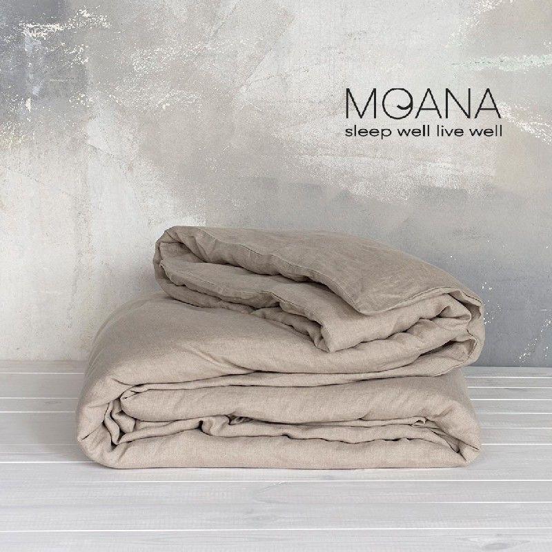 Poszwa na kołdrę lniana MOANA Pure, Rozmiar - 160x200, Kolor - natural NAJLEPSZA CENA, DARMOWA DOSTAWA
