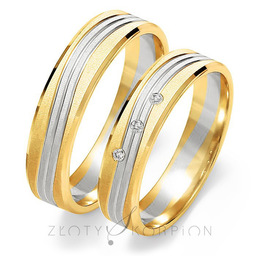 Obrączki ślubne Złoty Skorpion  wzór Au-OE220