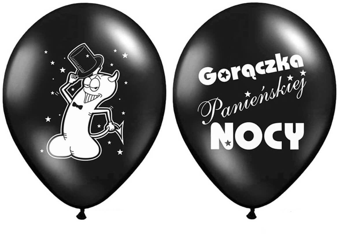 Balony na Wieczór Panieński Gorączka Panieńskiej Nocy - 36 cm - 6 szt.