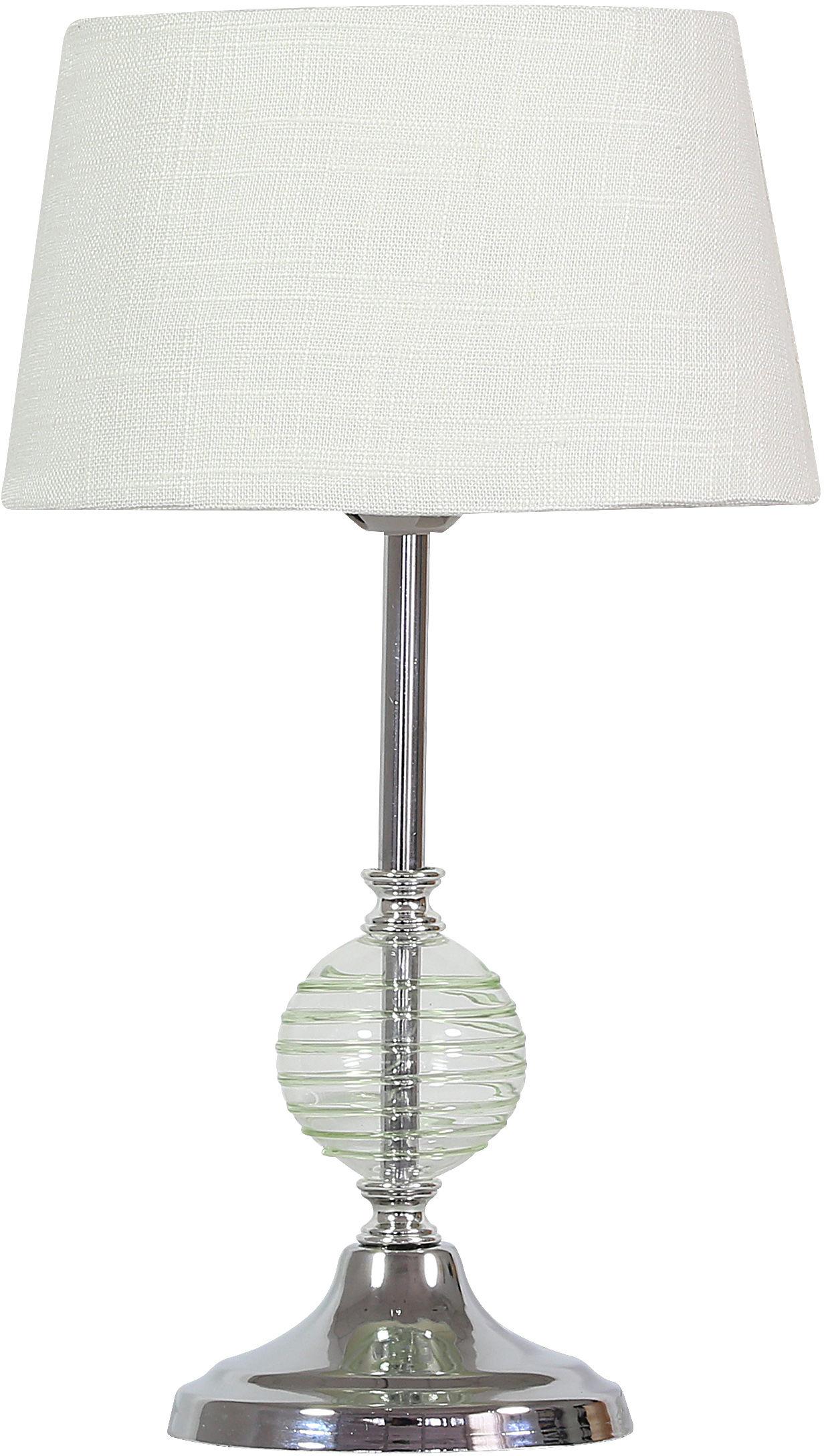 Candellux FERO 41-34618 lampa stołowa seledynowa ozdobna kula 1X60W E27 20 cm