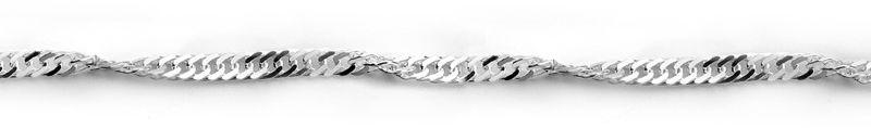 Staviori łańcuszek 42cm. singapur srebro 0,925. szerokość 2 mm.