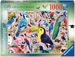 Ravensburger 16769 Matowe Sewell''s Amazing Birds 1000 sztuk Puzzle dla dorosłych i dzieci w wieku od 12 lat