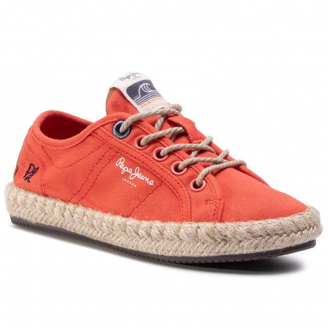 Espadryle PEPE JEANS - Tourist Island Gir PGS10170 Sunset Orange 168