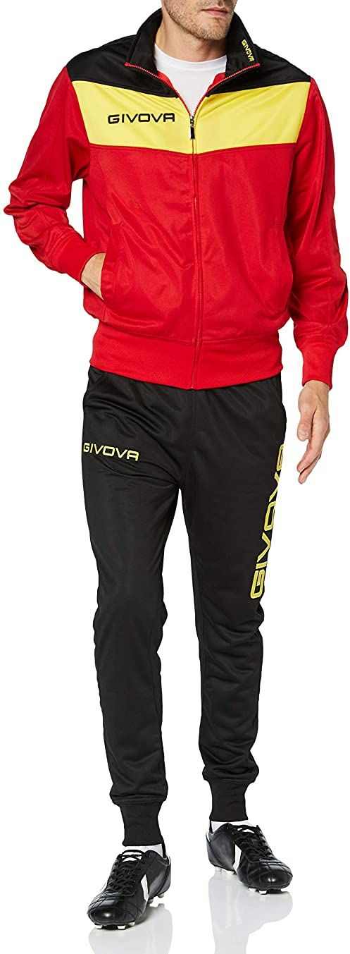 Givova, garnitur campo, czerwony/żółty, XS