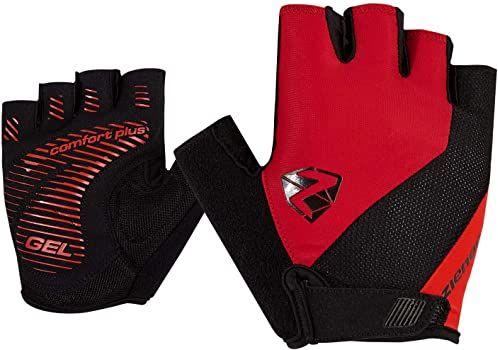 Ziener COLLBY rękawiczki rowerowe dla dorosłych, rower górski, rękawiczki sportowe krótkie palce, oddychające/amortyzujące/antypoślizgowe, czerwone pop, 6,5