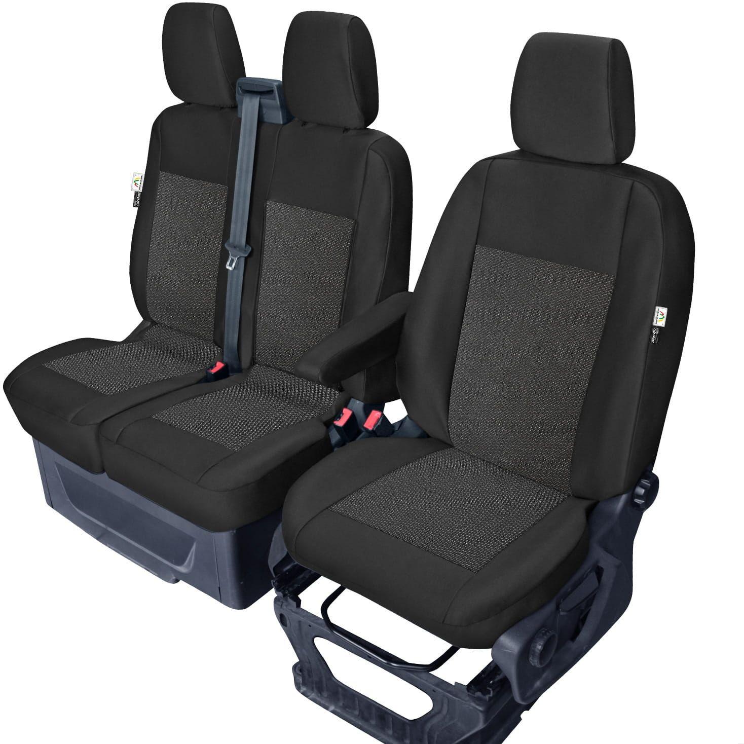 Ford Transit Custom - miarowe pokrowce 1+2