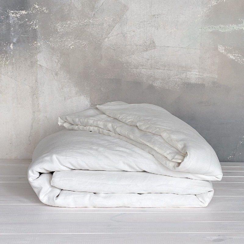 Poszwa na kołdrę lniana MOANA Pure, Rozmiar - 160x200, Kolor - white cream NAJLEPSZA CENA, DARMOWA DOSTAWA