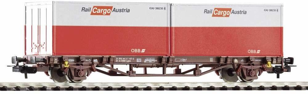 Piko 58731 wózek kontenerowy 2x 20'' kontenerowy, ÖBB Cargo, Ep. VI, pojazd szynowy