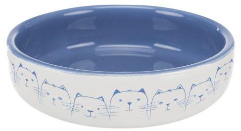 Trixie Miska ceramiczna dla kota 0,3l - biało/jasnoniebieska