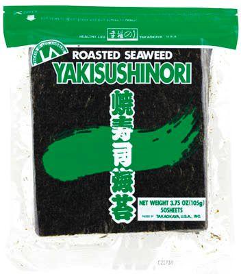 Glony do sushi Yaki Nori Green, prażone 50 arkuszy (125g) - Takaokaya