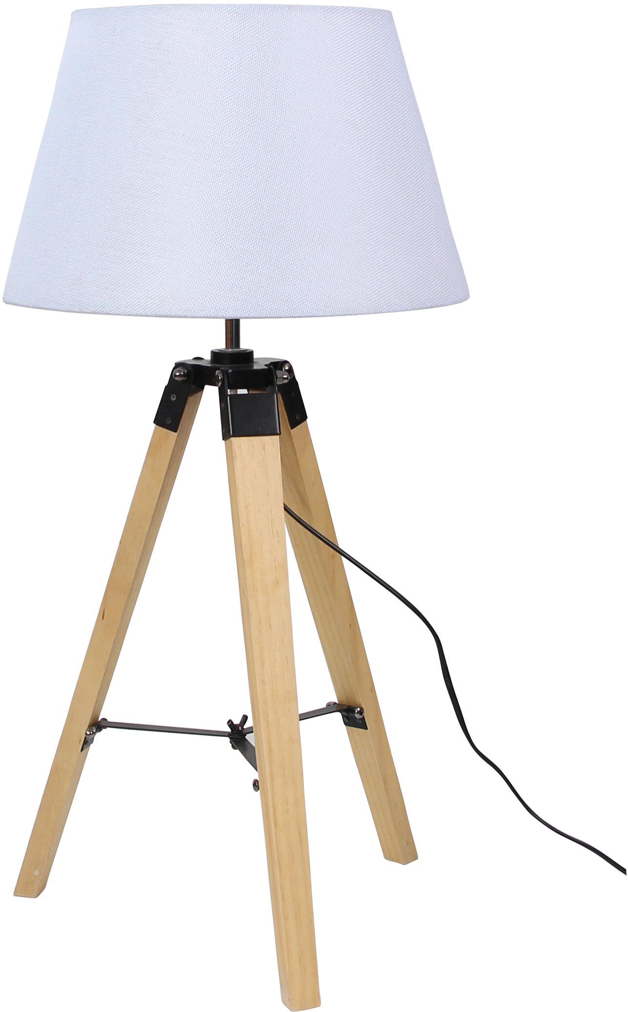 Candellux LUGANO 41-31136 lampa stołowa abażur beżowy trójnoga 1X60W E27 33 cm
