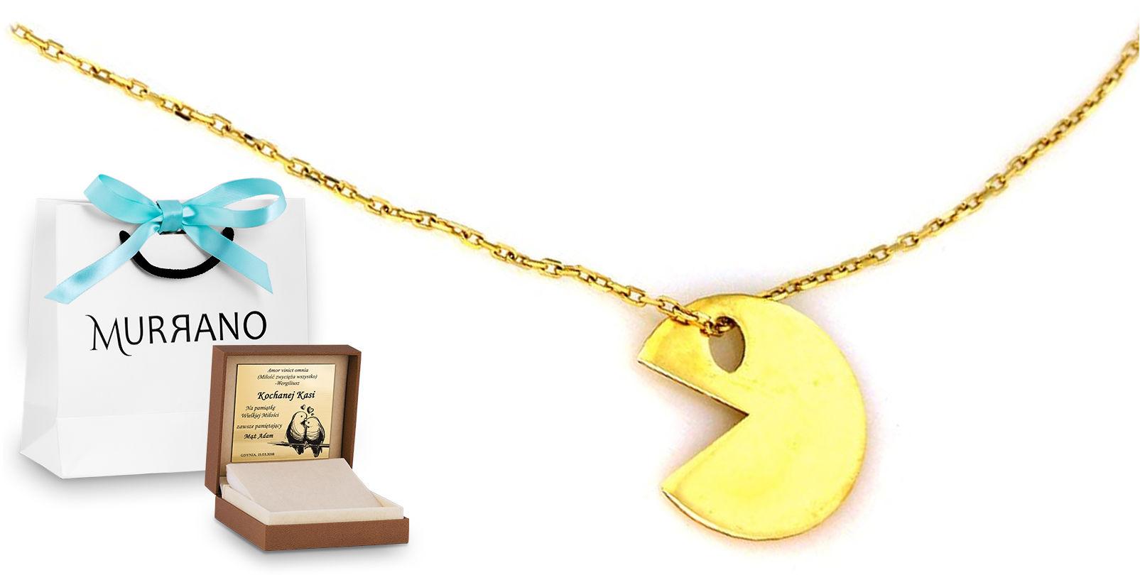 Złoty naszyjnik 333 celebrytka PREZENT GRAWER