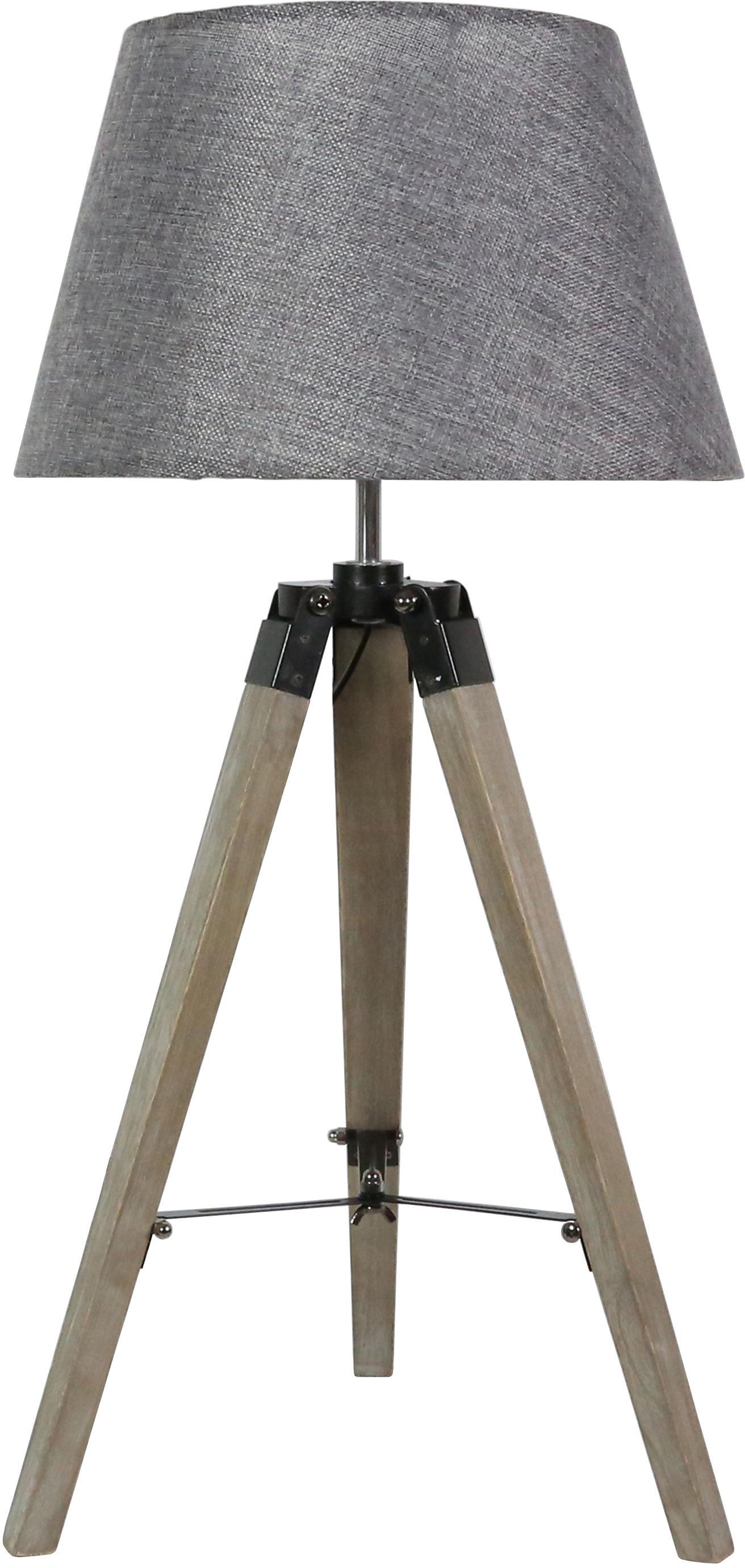 Candellux LUGANO 41-31150 lampa stołowa abażur szara trójnoga 1X60W E27 33cm