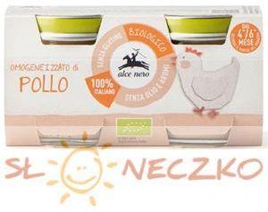 4 mc krem z kurczaka BEZGLUTENOWY BIO (2 x 80 g) 160 g - ALCE NERO