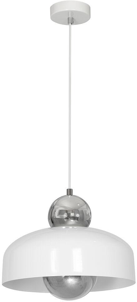 Milagro HARALD WHITE MLP3770 lampa wisząca metalowa biała efektowna kula zamontowana na oprawie 1xE27 30cm