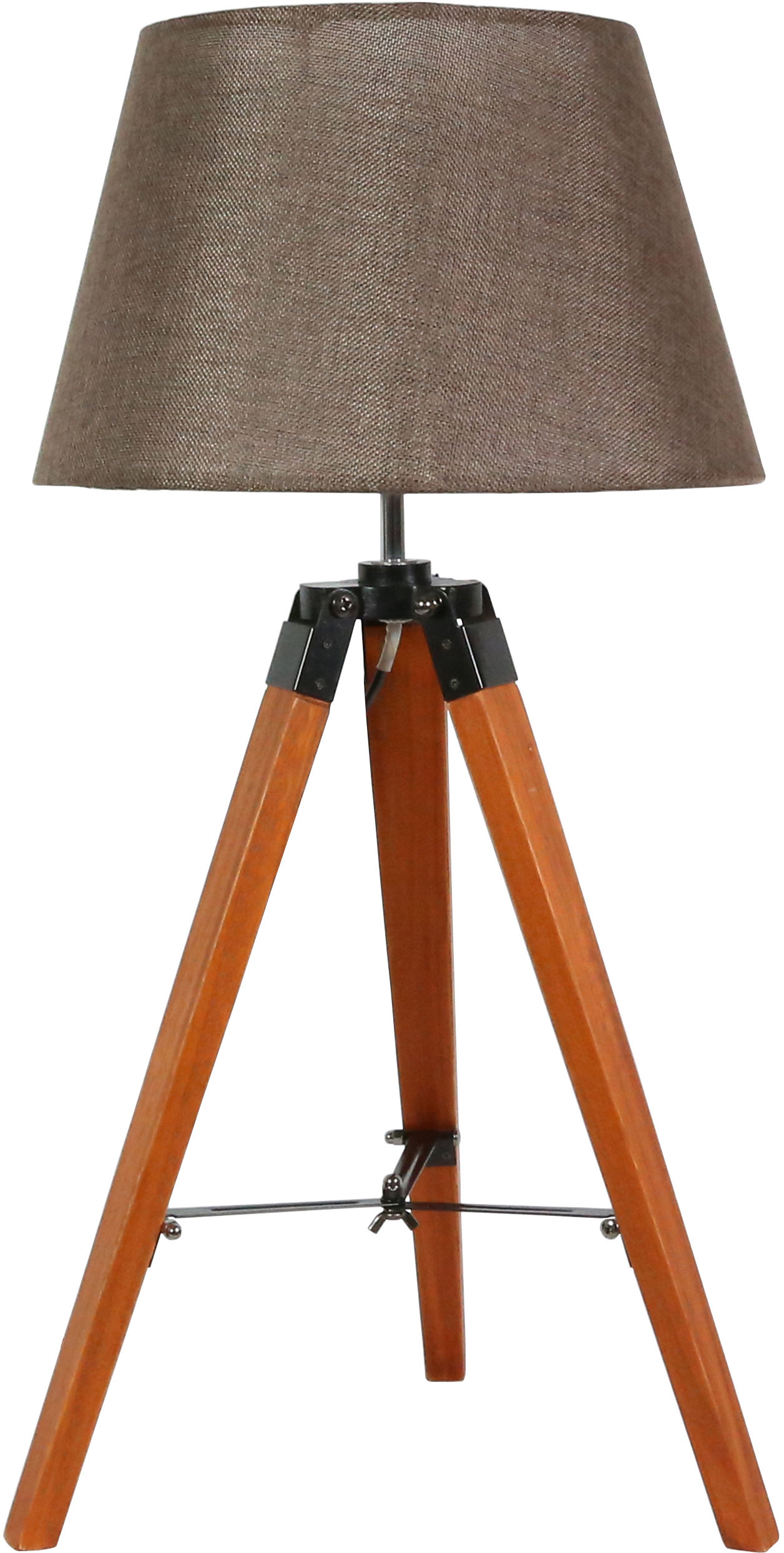 Candellux LUGANO 41-31211 lampa stołowa abażur brązowa trójnoga 1X60W E27 33cm