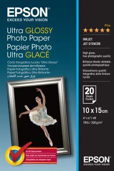 Papier 10x15 EPSON Ultra Glossy Photo Paper 300g/m (20ark) (C13S041926)