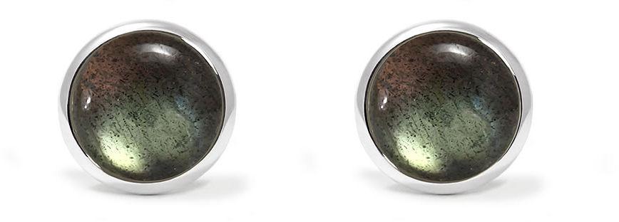 Kuźnia Srebra - Kolczyki srebrne, 16mm, Labradoryt, 2g, model