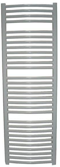 Grzejnik łazienkowy wetherby - elektryczny, wykończenie zaokrąglone, 600x1200, biały/ral