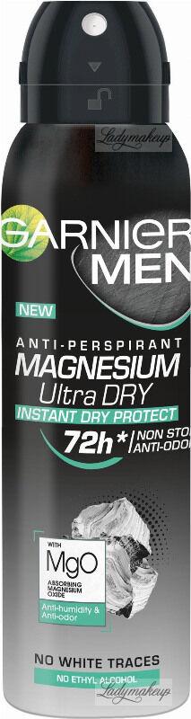 GARNIER - MEN - ANTI-PERSPIRANT MAGNESIUM ULTRA DRY - Antyperspirant w spray u dla mężczyzn