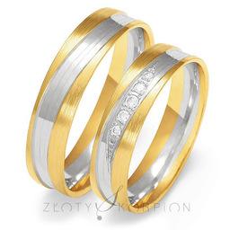 Obrączki ślubne Złoty Skorpion  wzór Au-OE224