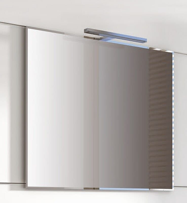 Lustro w ramie aluminiowej chrom 70/60 Elita (163092)