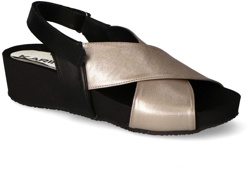 Sandały Karino 3353/074-P Złote lico