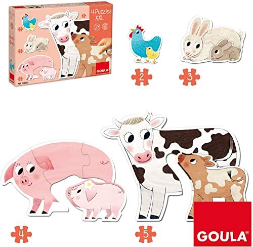 Goula 53175 drewniane puzzle, wielokolorowe