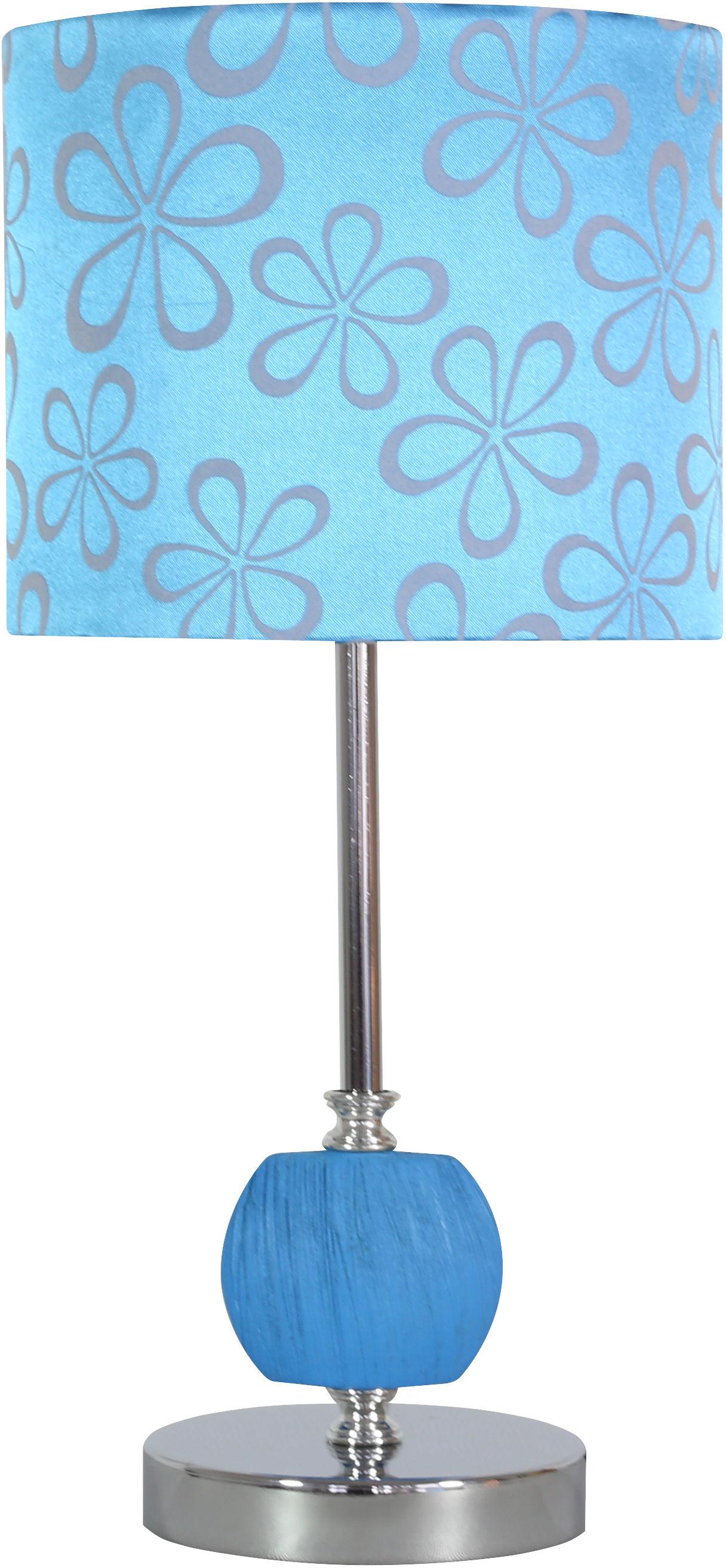 Candellux CORT 41-34625 lampa stołowa abażur niebieska 1X60W E27 19 cm
