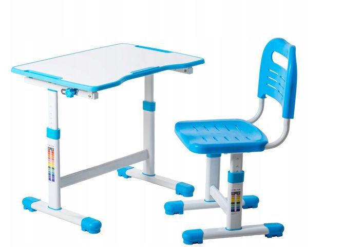 Regulowane biurko dziecięce Sole II Blue FunDesk