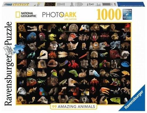 Puzzle Ravensburger 1000 - 99 oszałamiających zwierząt, 99 Stunning Animals