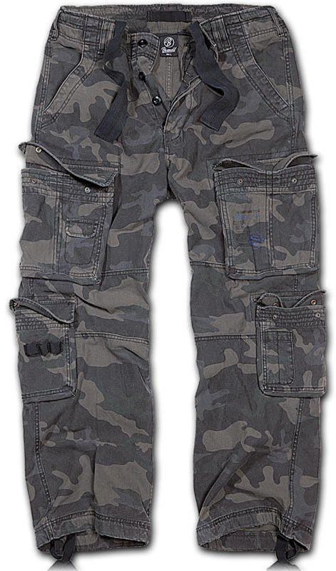 Spodnie wojskowe Brandit Pure Vintage Dark Camo (1003-4)