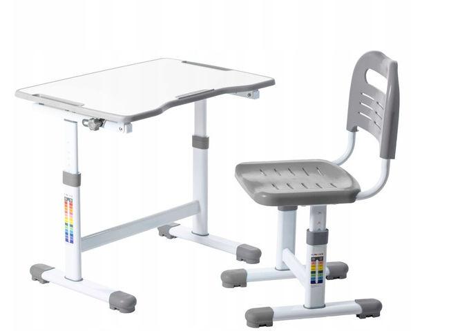 Regulowane biurko dziecięce Sole II Grey FunDesk