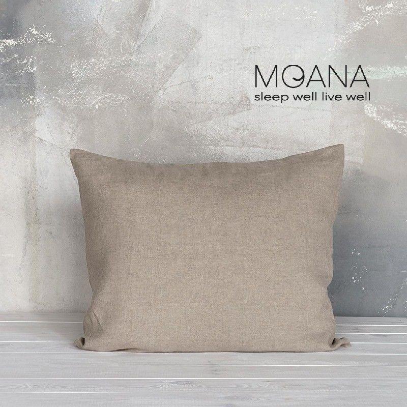 Poszewka na poduszkę lniana MOANA Pure, Rozmiar - 50x70, Kolor - natural NAJLEPSZA CENA, DARMOWA DOSTAWA