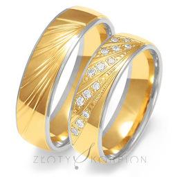 Obrączki ślubne Złoty Skorpion  wzór Au-OE225