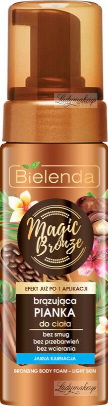 Bielenda - Magic Bronze - Bronzing Body Foam - Light Skin - Brązująca pianka do ciała - Jasna karnacja - 150 ml
