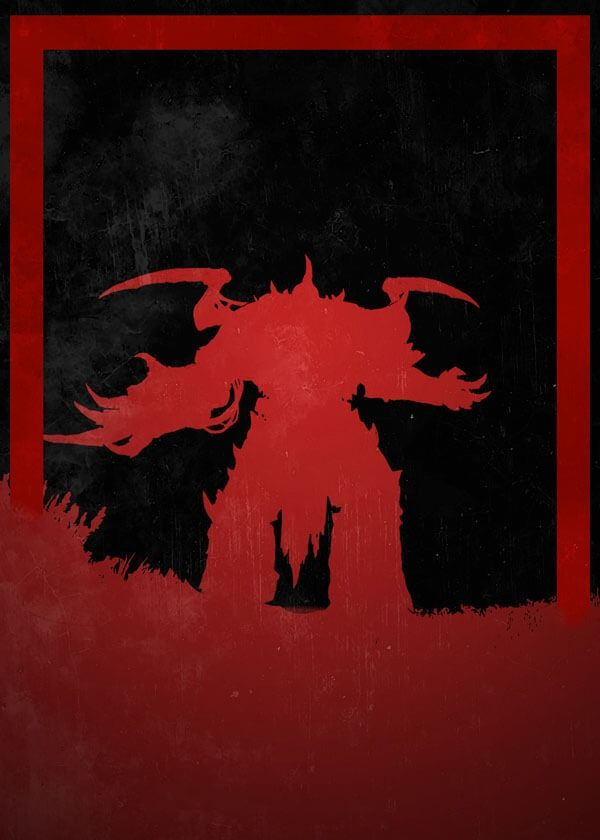 Dusk of villains - horus, warhammer 40k - plakat wymiar do wyboru: 30x40 cm