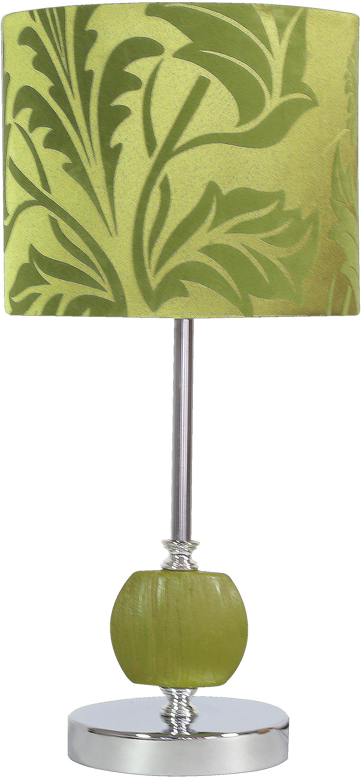 Candellux CORT 41-34724 lampa stołowa abażur walec zielony 1X60W E27 19 cm