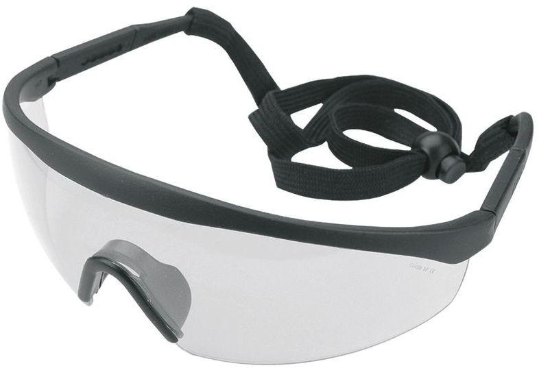 Okulary ochronne białe regulowane zauszniki klasa odporności F 97-510