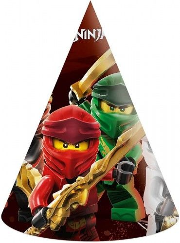 Czapeczki urodzinowe Lego Ninjago, 6 szt.