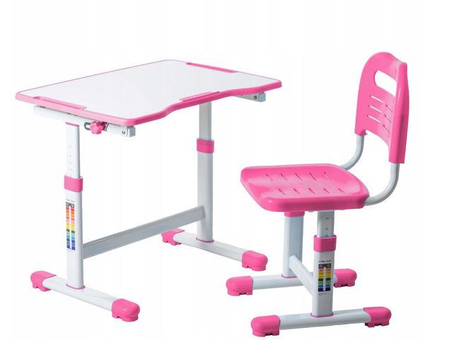 Regulowane biurko dziecięce Sole II Pink FunDesk
