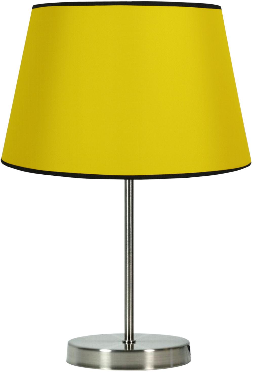 Candellux PABLO 41-34090 lampa stołowa abażur żółty 1X60W E27 25 cm