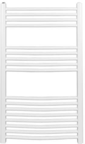 Grzejnik łazienkowy york - wykończenie zaokrąglone, 600x1000, biały/ral