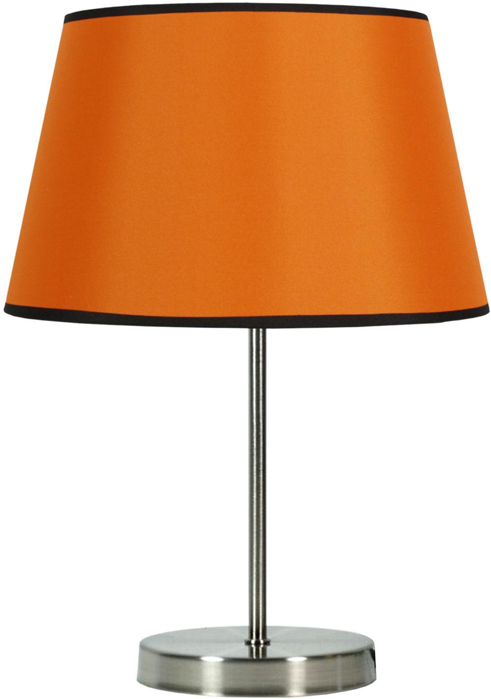 Candellux PABLO 41-34106 lampa stołowa abażur pomarańczowa 1X60W E27 25 cm