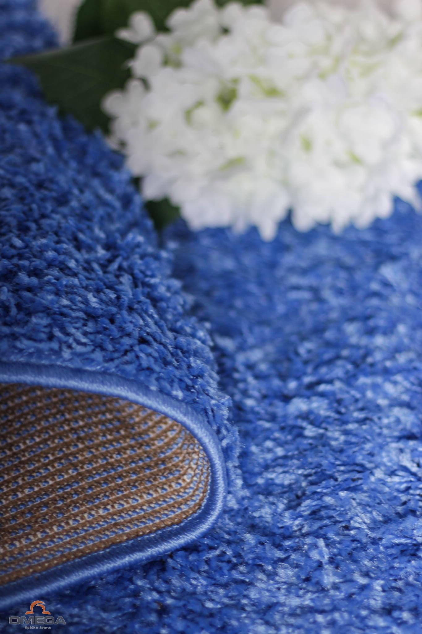 Dywan Shaggy 200x300 włochaty niebieski Paradise 13